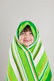 Girl wrapped in towel Royalty Free Stock Photography