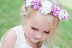 Girl with wreath Royalty Free Stock Images