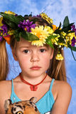 Girl in the wreath Royalty Free Stock Photos