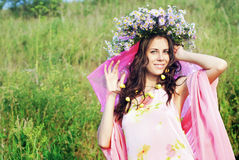 The girl in the wreath Royalty Free Stock Photography