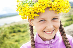 Girl with a wreath Royalty Free Stock Image
