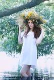 Girl in a wreath Stock Photo