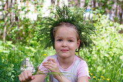 Girl in the wreath Royalty Free Stock Photography