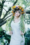 Girl in a wreath Stock Photography