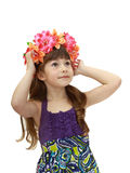Girl with wreath Stock Photography