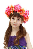 Girl with wreath Royalty Free Stock Photography