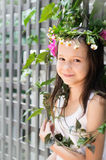 Girl with wreath Royalty Free Stock Photos