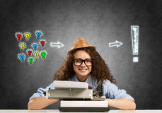Girl writer Royalty Free Stock Photo