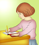 Girl Writing Stock Image