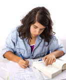 Girl Writing Royalty Free Stock Photo