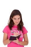 Girl writing Stock Image