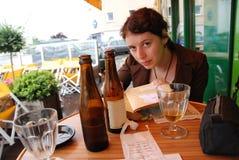 Girl writing diary Stock Photo