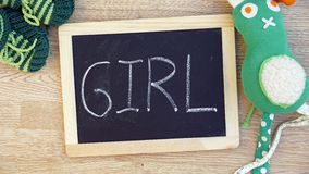 Girl written Stock Image