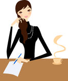 Girl writting Royalty Free Stock Photos