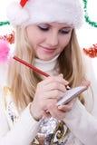 Girl writting Stock Photos