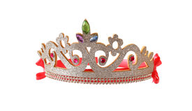 Girl& x27;s costume crown, isolated on white Stock Image