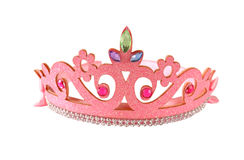 Girl& x27;s costume crown, isolated on white . Stock Image