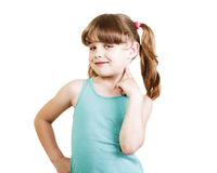 Girl 6-7 years Royalty Free Stock Images