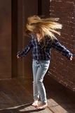 Girl 5 years spinning in the dance Stock Photography