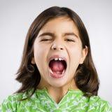 Girl yelling Stock Images