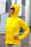 Girl in a yellow blazer Royalty Free Stock Photos