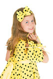 The girl in a yellow dress Stock Photo