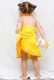 Girl in yellow dress Royalty Free Stock Photos
