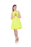 Girl in yellow dress Royalty Free Stock Image
