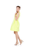 Girl in yellow dress Royalty Free Stock Images