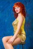 Girl in a yellow dress Stock Photos