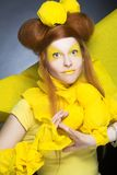 Girl in yellow. Royalty Free Stock Images