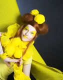 Girl in yellow. Royalty Free Stock Photos