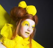 Girl in yellow. Royalty Free Stock Image