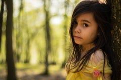 Girl in yellow princess dress Royalty Free Stock Photo