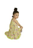 The girl in yellow sundress Royalty Free Stock Image