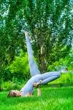 Girl yoga Stock Photo
