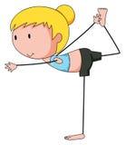 Girl and yoga Royalty Free Stock Image