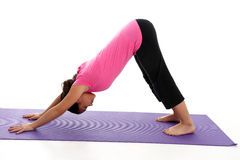 Girl in Yoga Pose Stock Photo