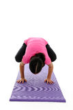 Girl in Yoga Pose Stock Photos