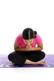 Girl in Yoga Pose Royalty Free Stock Image