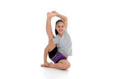 Girl in Yoga Pose. Girl Doing Yoga Pose in a Studio Royalty Free Stock Images