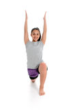 Girl in Yoga Pose. Girl Doing Yoga Pose in a Studio Royalty Free Stock Image