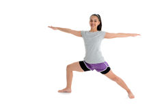 Girl in Yoga Pose. Girl Doing Yoga Pose in a Studio Stock Photography