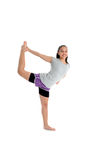 Girl in Yoga Pose. Girl Doing Yoga Pose in a Studio Royalty Free Stock Image