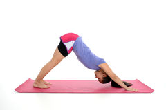 Girl in Yoga Pose Royalty Free Stock Photos