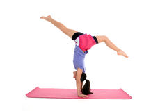 Girl in Yoga Pose Stock Images