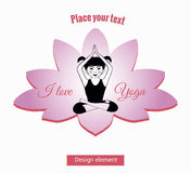 Girl in yoga pose sitting in the lotus 8 Royalty Free Stock Photo