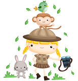 Girl Zookeeper Royalty Free Stock Images