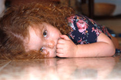 Girl3 dirigido vermelho Fotos de Stock