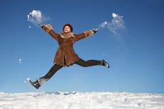 girl4 ευτυχής χειμώνας Στοκ Εικόνες